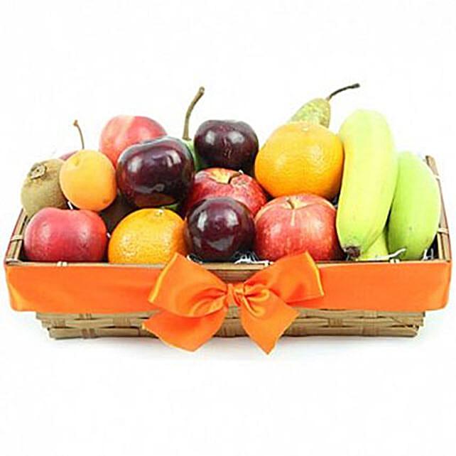Classic Basket Of Ripe Fruits
