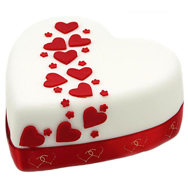 Hearts And Stars Cake