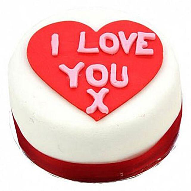 I Love You Heart Cake Egg Free