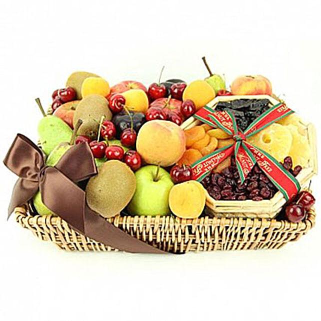 Tropical Mix Fruit Basket:Gift Baskets in London, UK