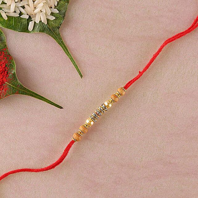 Elegant Diamond Rakhi Thread