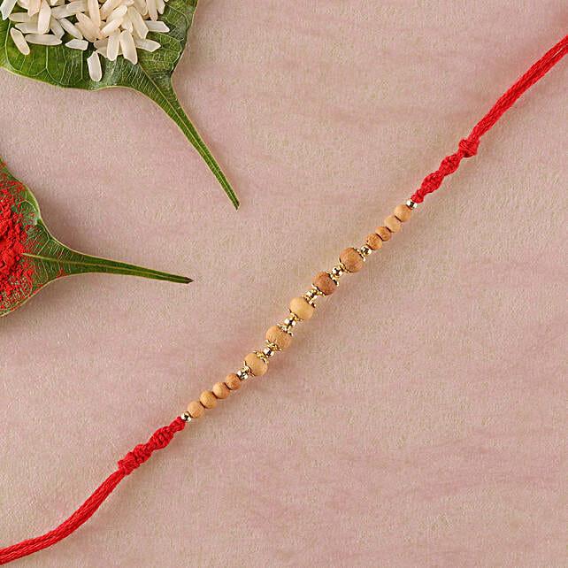 Five Sandalwood Rakhi Thread