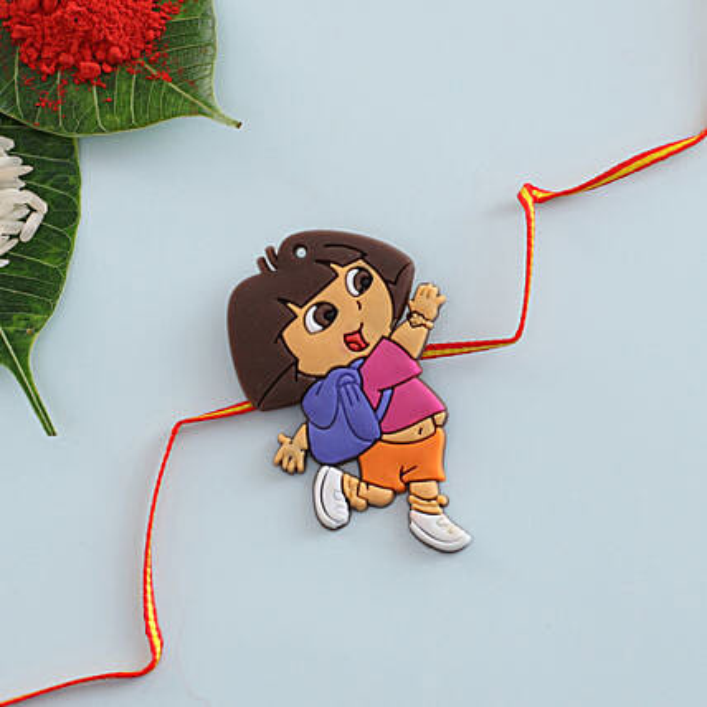 Kids School Girls Rakhi Thread:Send Cartoon Rakhi to UK