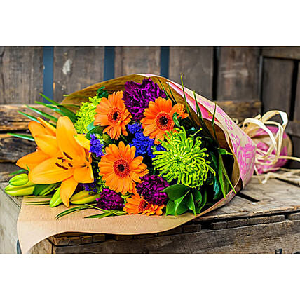Bunch Of Lily And Carnations