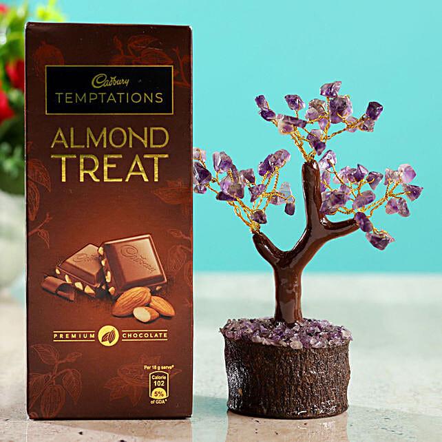 Rose Quartz Wish Tree & Chocolate
