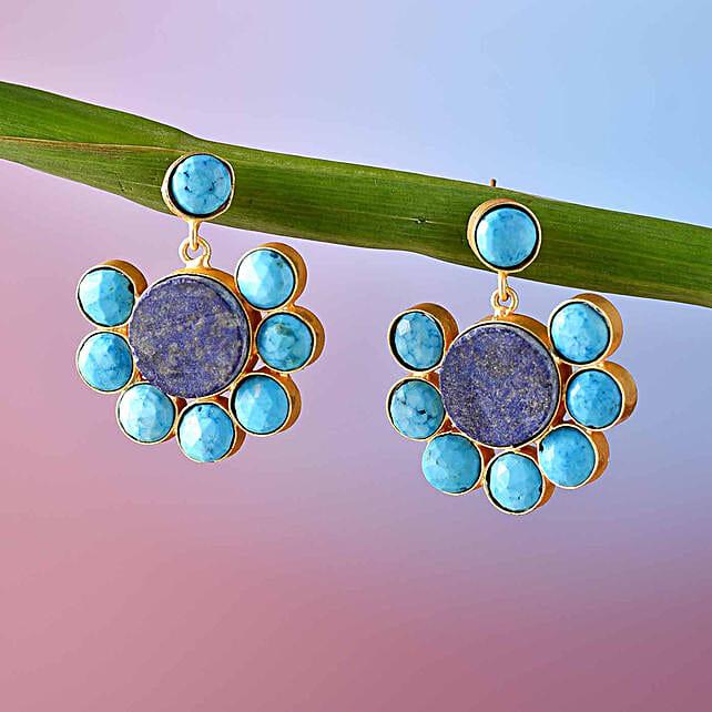 Elegant Lapis Lazuli Stone Earrings
