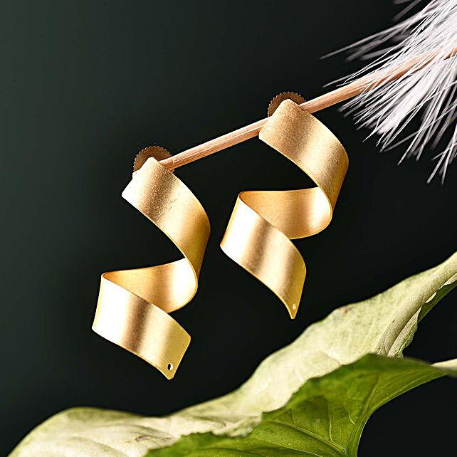 Matte Finish Precious Stone Earrings