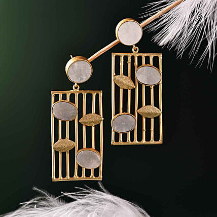 Mother Of Pearl Stone Earrings