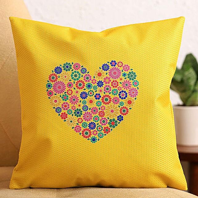 Colourful Heart Cushion:Send Karwa Chauth Gifts to UK