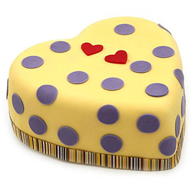 Vibrant Love Heart Cake