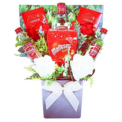 Vodka Selection And Chocolates Bouquet