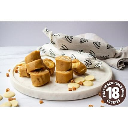 White Chocolate Salted Caramel Cookie Dough Rolls