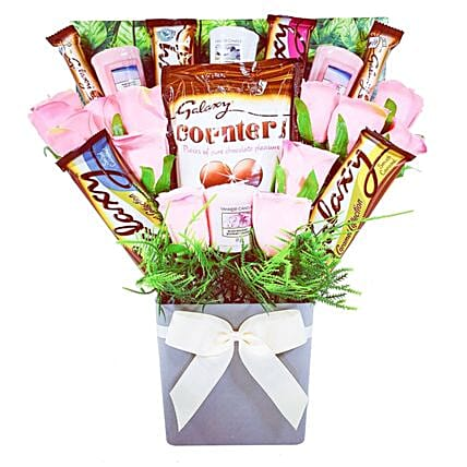 Yankee Candle And Galaxy Chocolate Bouquet