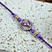Purple Stone Diamond Bracelet