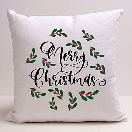 Pretty Merry Christmas Cushion:Christmas Gift Delivery in Ukraine
