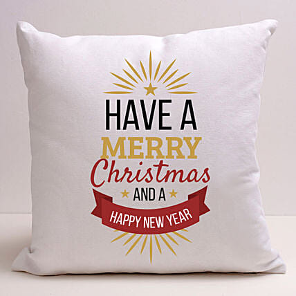 Xmas And New Year Greetings Cushion:Christmas Gift Delivery in Ukraine