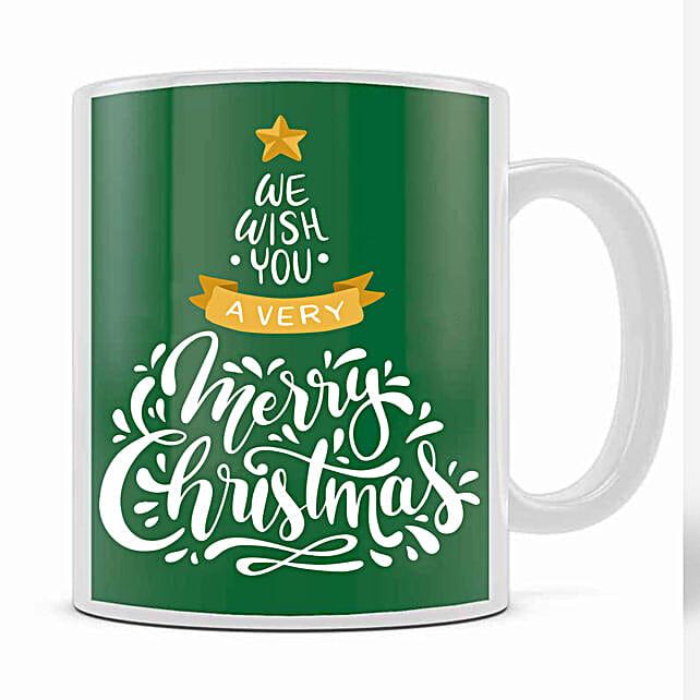 Xmas Greetings Green Mug:Christmas Gift Delivery in Ukraine