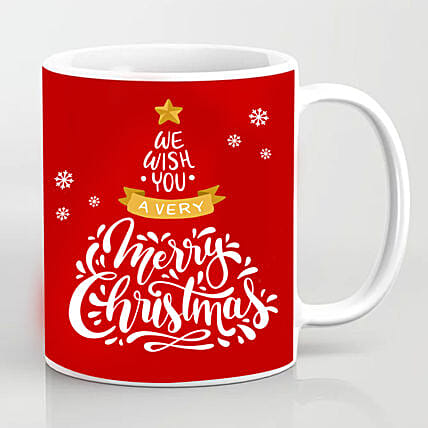 Xmas Greetings Red Mug:Christmas Gift Delivery in Ukraine