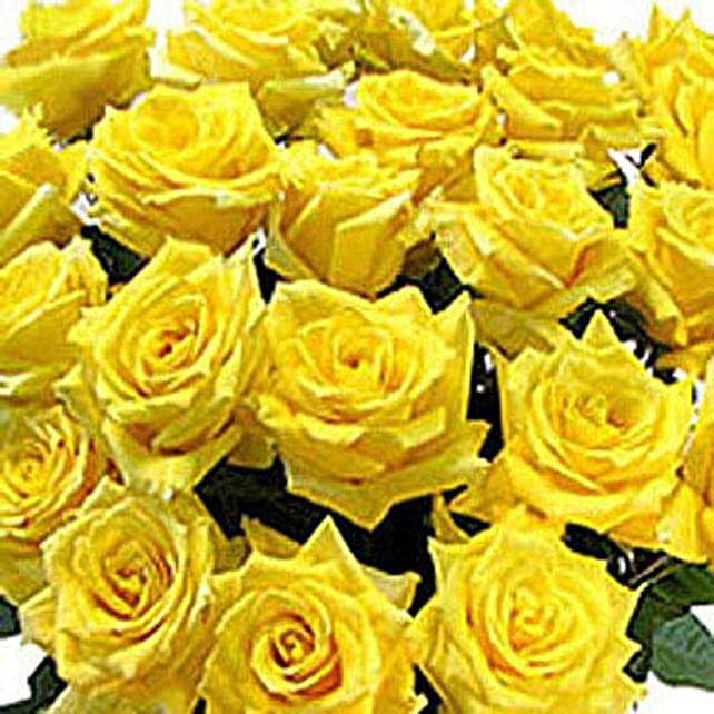 100 Long Stem Yellow Roses