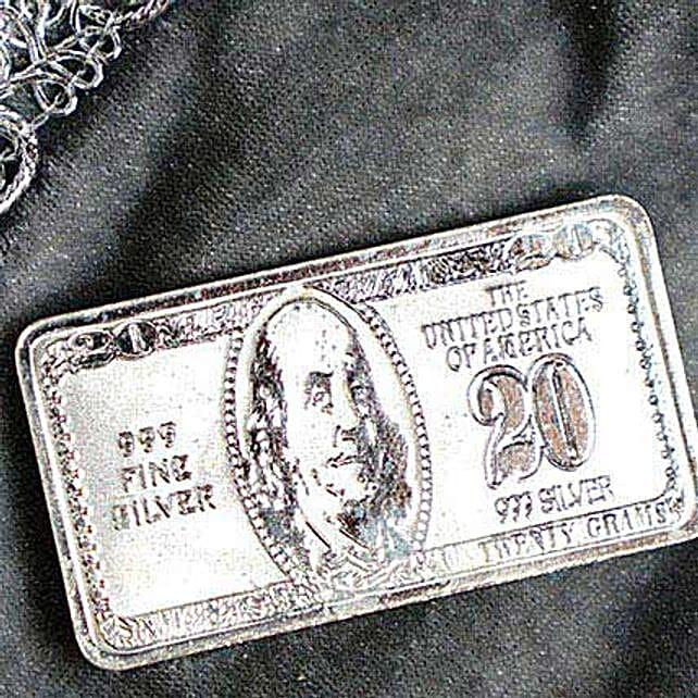 20 Gram Pure Silver 20 Bill Biscuit
