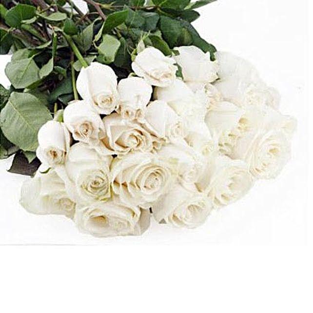 Gift 50 Long Stem White Roses
