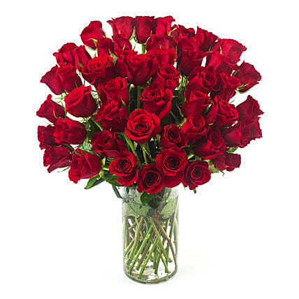 50 Red Roses:Mothers Day Flowers in USA