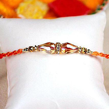Appealing Crystal Thread Rakhi