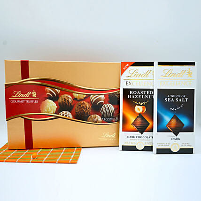 Assorted Lindt Chocolates Basket