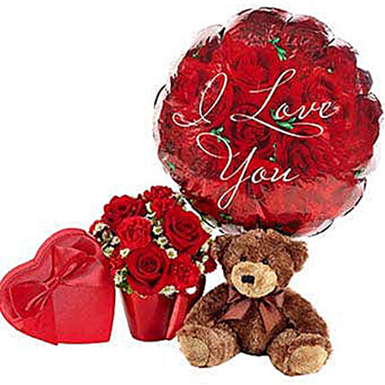 Beautiful Rose Bouquet Ultimate Combo:Soft Toys Delivery in USA