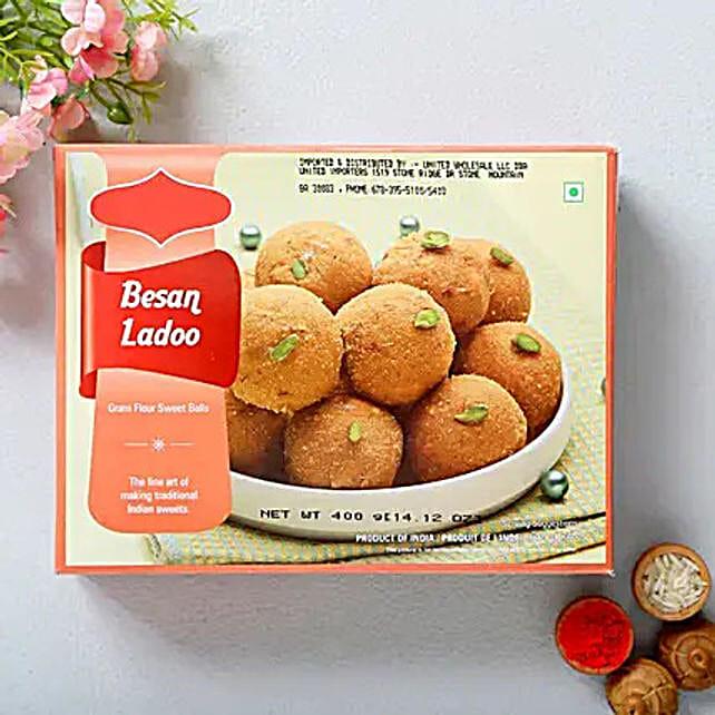 Besan Laddoo 360 Gms:Send Sweets to USA
