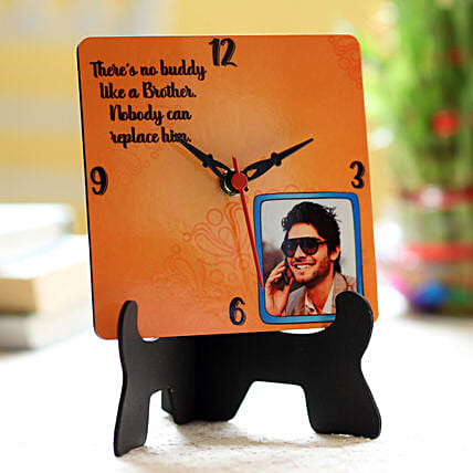 photo printed diwali clock for bro on bhai dooj