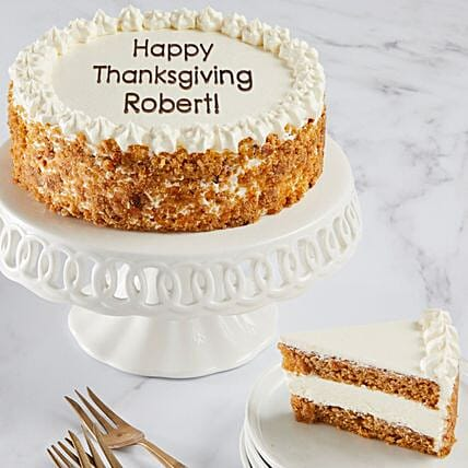 Carrot Cake With Personalization:Send Thanks Giving Gifts to USA
