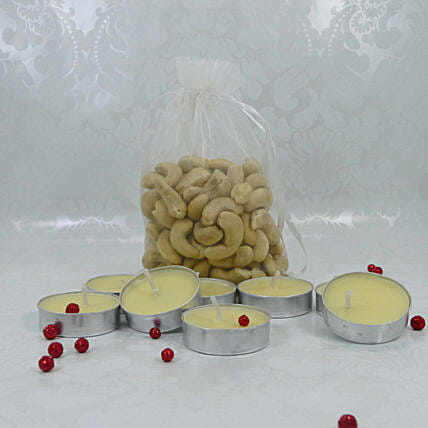 Cashews And Candles For Diwali