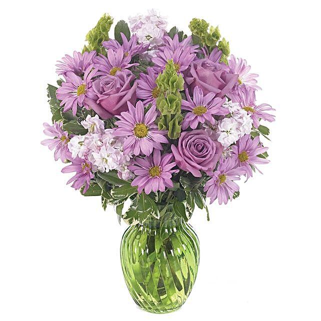 Cheerful Assorted Flowers Vase Arrangement