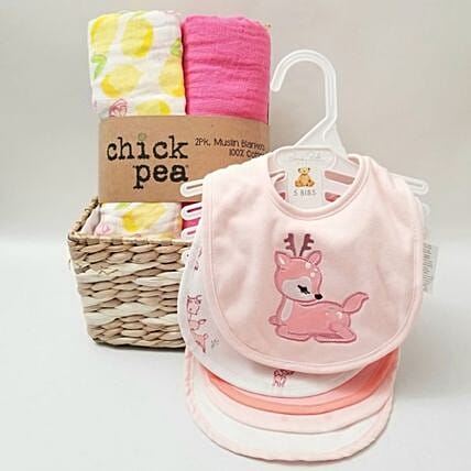 Chick Pea Baby Girl Gift Set:Newborn Baby Gifts to USA