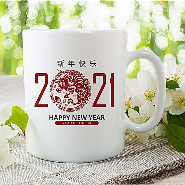 Chinese New Year Wishes Printed Mug:Send Chinese New Year Gifts to USA
