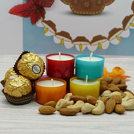 Chocolates Dry Fruit And Candle Combo