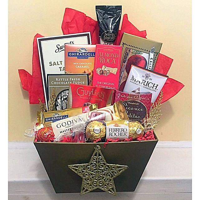 Christmas Candy Gift Hamper:Send Christmas Gift Hampers to USA