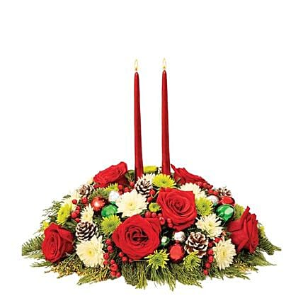 Christmas Holiday Cheer Centerpiece