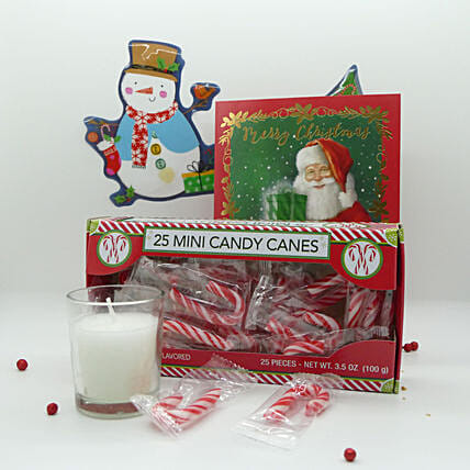 Christmas Special Candy Cane With Candles