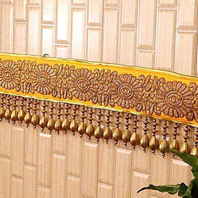 Classic Yellow N Golden Beads Bandhanwar