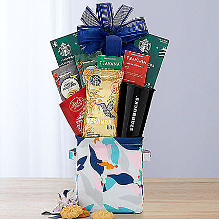 Coffee Tea and Cocoa Assortment Gift Basket