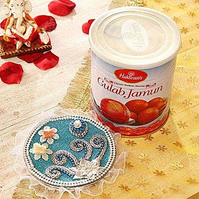 Delicious Gulab Jamun with Tikka Thali