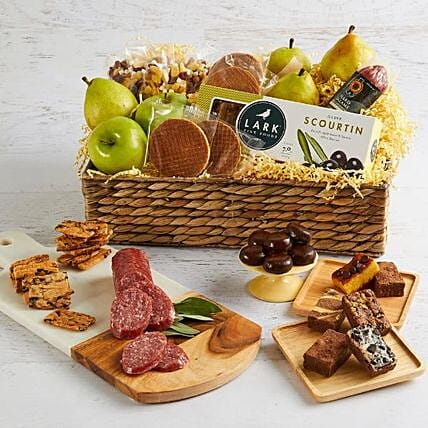 Deluxe Fruit And Snacks Basket