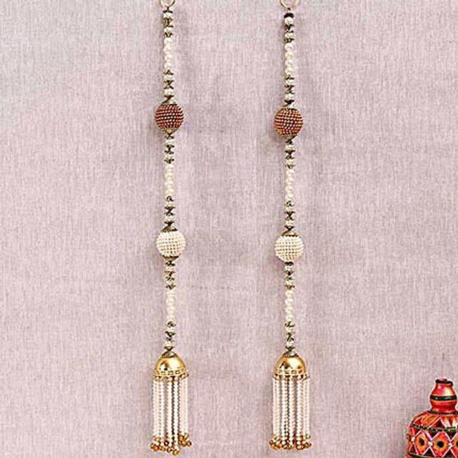 Designer Beads and Metallic Door Hanging