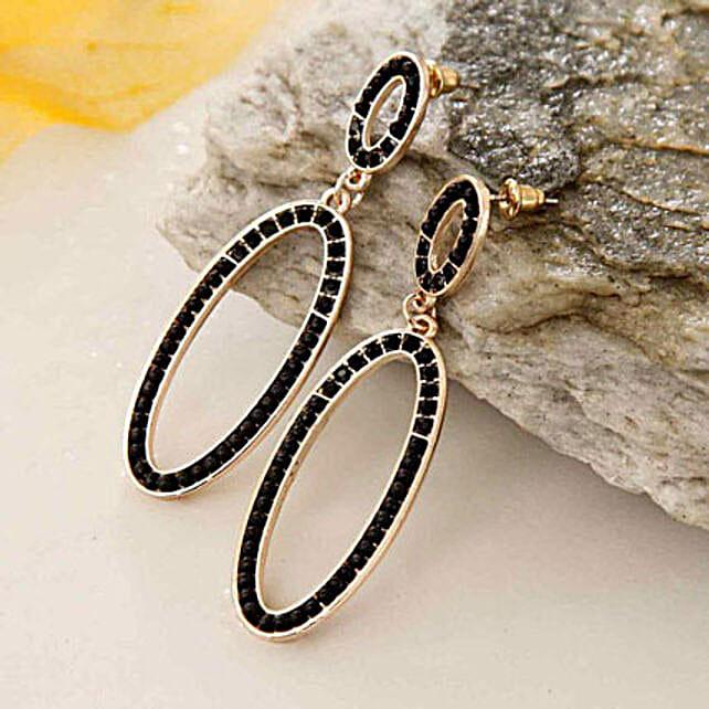 Designer Oval Earring