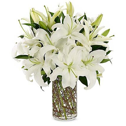 Easter Special White Lilies Vase Arrangement