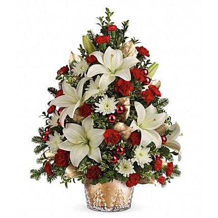 Elegant Floral Christmas Arrangement