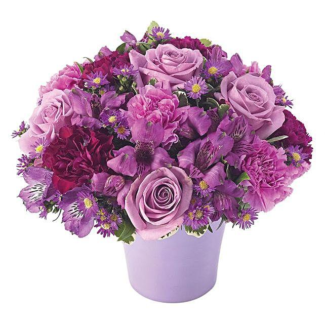 Exquisite Assorted Flowers Pot Arrangement