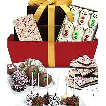 Fancy Chocolate Covered Gifts Basket